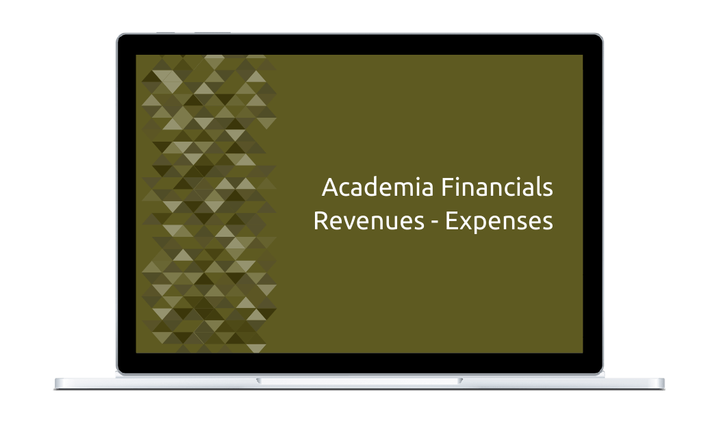 Academia Financials Revenues - Expenses